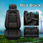 5 Seats Leather Car Seat Cover Waterproof Breathable Full Set Front Back Cover
