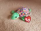 TY ZOOM the TURTLE  BEANIE BABY - MINT with MINT TAGS.