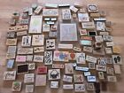 HUGE Lot 105 Wood Rubber Stamps BIRTHDAY PARTY HOLIDAY+Some New Scrapbook Art