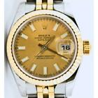 Rolex Datejust 179173 Steel & Gold Jubilee Band Factory Champagne Index Dial