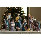 17 in Nativity Set Baby Jesus Mary Figures Resin Christmas Ornament Indoor 7 Pcs