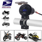 USB Port Phone Fast Charger LED Voltmeter For Motorcycle Scooter ATV Moped USA