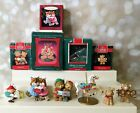 Hallmark Ornament Lot Carousel Horse Bears Foxes Hark It's Herald Mom