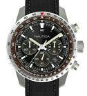 NAUTICA AUTHENTIC PIER 39, STAINLESS CHRONOGRAPH WATCH NAPP39001, NEW IN CASE