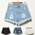 Womens Vintage High Waist Stretch Ripped Denim Jeans Shorts Sexy Hotpant