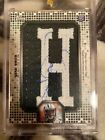 2013 Geno Smith 1 of 1 Jersey Patch (Letter H) Autograph Rookie Card