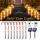 Solar Power Christmas Candy Cane Lights Pathway Markers Yard Lawn Pathway Decor