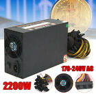 2200W 8PIN Power Supply For 8 CPU Eth Rig Ethereum Coin Mining Miner Machine