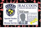 ZOMBIE COLLECTOR CARDS CERTIFICATES RACCOON CITY PD