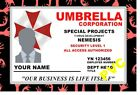 ZOMBIE COLLECTOR CARDS CERTIFICATES UMBRELLA CORP