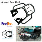 Motorcycle Armrest Rear Shelf Strong Structure Refitted Box Tail Fin Rack Black