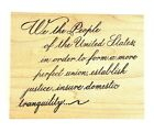 We The People Wood Mounted Rubber Stamp Constitution Serendipity Stamps H214