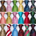 USA Classic Gold Blue Yellow Green Red Mens Tie Necktie Hanky Silk Jacquard
