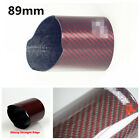 89mm Universal Straight Edge CarbonFiber Car Exhaust Muffler Pipe Tip Cover Case