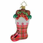 Christopher Radko Classic Country Stocking Glass Christmas Ornament #1019887