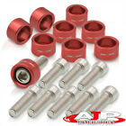 For Honda Acura M8x1.25MM 4Cylinder Exhaust Header Manifold Red Dress Up Washer