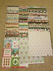 100 pages of 12x12 christmas themed scrapbook paper various brands