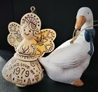 1979 Hallmark Cards INC Angel Tree Ornament + Around The World Hallmark Goose