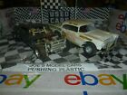 BUILT MODEL CAR 2 OLDER BUILT STOCK CARS 55 CHEVY AND MUSTANG DIORAMA OR PART