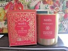 Crabtree  Evelyn Small Noel Fragranced Candle GOLD Glass holder NIBox 225oz