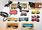 Lot of 13 HO Scale Freight Cars, Caboose & Transformers - Lionel Bachmann Tyco