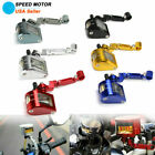 Motorcycle Brake Clutch Master Cylinder Fluid Reservoir Tank Oil Cup Bracket US