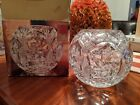 CRYSTAL ROSE BOWL HANDCUT MOUTHBLOWN ELIZABETH BY CRYSTAL CLEAR NEW OPENED BOX
