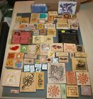 NICE LOT 65 plus Mixed Wood Mounted Rubber Stamps Stamping Scrapbooking 8 plus