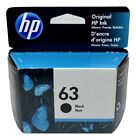 HP 63 Ink Cartridge Black NEW Genuine