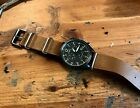 Timex Waterbury military style chronograph, 3 register, slide band, looks great