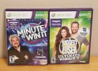Xbox 360 Kinect Games Minute to Win It The Biggest Loser Lot of 2