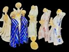 Vintage 8 Piece Murano Glass Nativity Set Jesus Mary Joseph Wise Men Angels