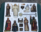 The Real Life Nativity 14 piece Nativity set PLUS 4 animals set