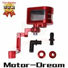 CNC Fluid Reservoir Tank Oil Cup & Bracket Universal Motorcycle Brake Clutch Red