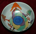 EXRARE CLARICE CLIFF INSPIRATION CAPRICE  ART DECO BIZARRE 9 COLORWAY!! BEAUTY!!