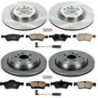 KOE6707 Powerstop Brake Disc and Pad Kits 4 Wheel Set Front  Rear New for ML320