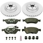 ESK4571 Powerstop Brake Disc and Pad Kits 2 Wheel Set Front New for A8 Quattro