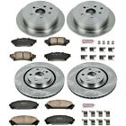 KOE5828 Powerstop Brake Disc and Pad Kits 4 Wheel Set Front  Rear New for RX350