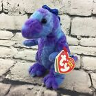 Ty Beanie Baby Tyranno Purple T-Rex Beanbag Plush Collectible With Tag