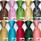 USA 1500 Color Blue Gold Yellow Green Coral Red Mens Tie Silk Necktie Set Hanky