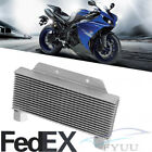 1X Silvery Aluminum Alloy Motorcycle 15-Row Engine Oil Cooler Radiator Universal