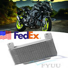 Silvery High Quality Motorcycle ATV Engine Oil Cooler Radiator 15-Rows USA Stock