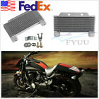 Universal Aluminum Alloy Motorbike Engine Oil Cooler Radiator 15-Row w/Accessory