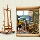 Portable Artist Durable Wooden Easel 360 H Frame W Caster Painters Drawing Board