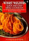 Weight Watchers Quick and Easy Menu Cookbook Plume By Weight Watchers Interna