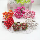 Mini Bacca Artificial Flower Stamen Berry Foam Fruit Holly Berry Fake Cherry