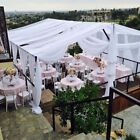 10 yards 120 inch Wide Voile Chiffon Fabric Sheer Draping Wedding white color