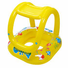 Pool Central Inflatable Baby Pool Float Sunshade Yellow Sea Creature