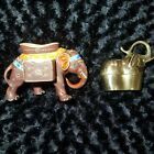 Satsuma Moriage and Brass Elephant