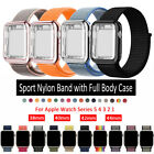 Nylon Women Sports Band Strap with Case Cover For Apple Watch 38/40/42/44mm 5 4
